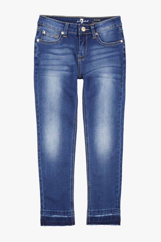 Girls 7-14 The Ankle Skinny in Brilliant Azure
