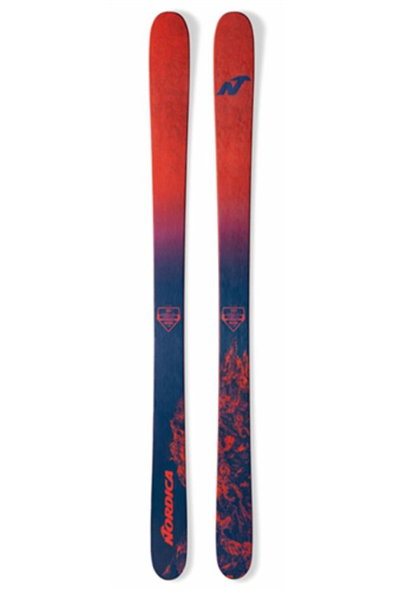 Go out and enforce with the 2017 Nordica Enforcer 100 All Mountain Ski With two sheets of Titanal and a wood core this thing is beefy and we mean beefy. You will quickly find out that you can throw your best at this beast and it will handle with ease
