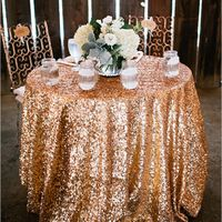 Sparkly Gold Sweetheart Table