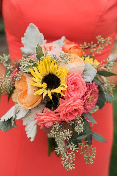 Sunflower And Pink Rose Bouquet Minnesota, Sunflowers ...