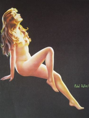 Mabel-Rollins-Harris-Pinup-Girl-Art-Study-Nude-Enchantment-Mint-Condition-WOW