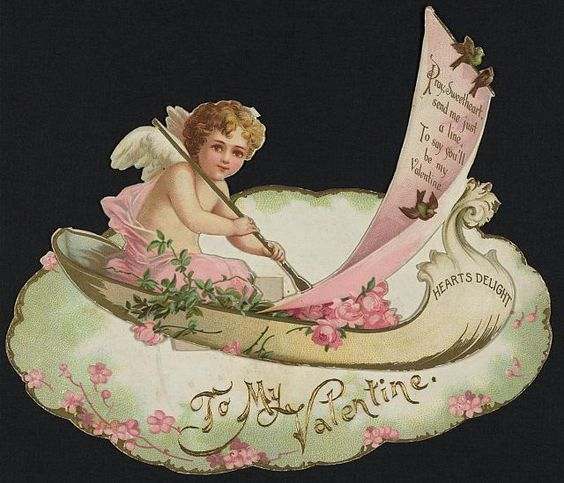 """To my Valentine."" Color card, 1890.  Library of Congress Prints and Photographs Division.:"