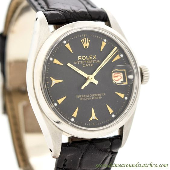 1956 Vintage Rolex Date Automatic Ref. 6534 Stainless Steel Watch