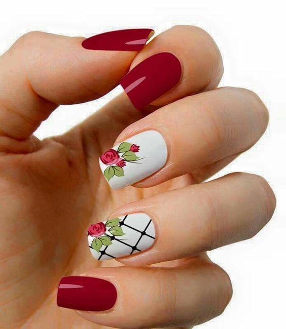 Diseños de uñas rojas