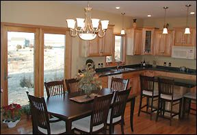 Oak trim neutral colors and paint colors on pinterest for Neutral colors for kitchen and dining room