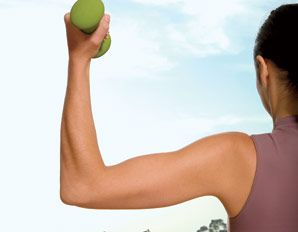 Tone your arms in 10 minutes - results in 4 weeks - because running doesn't get the arms.