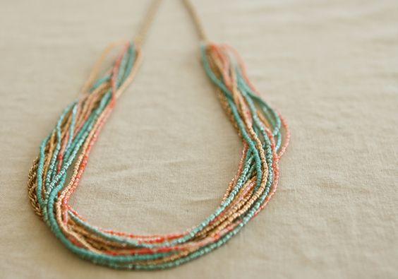 DIY Seed Bead Necklace Tutorial