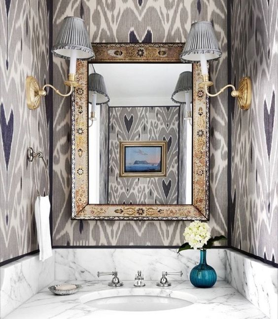 Markham Roberts / House Beautiful. Decorating The Way I See It {Markham Roberts}. #bathroom #traditional #interiordesign