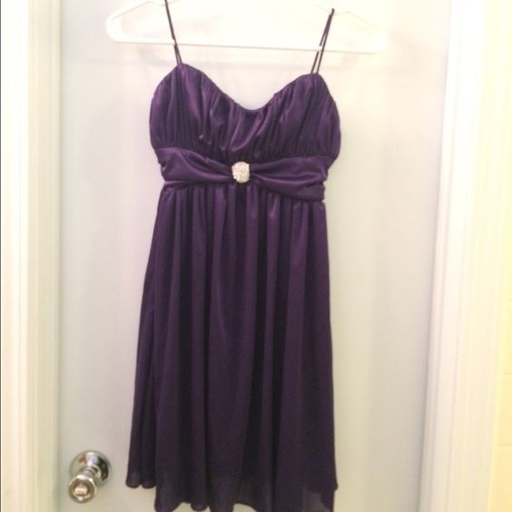 Purple Formal Dress | Morgan & Co Wore this once for homecoming and haven't worn it again, so it's in amazing condition! Morgan & Co. Dresses