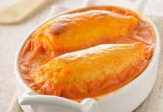 Quenelles gratinées à la sauce tomateVoir la recette desQuenelles gratinées à la sauce tomate >>