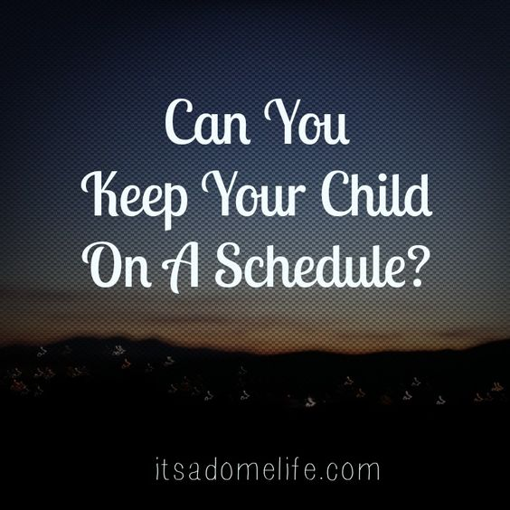 Can you keep your child on a schedule? No? Me either. When my daughter was born I devoured all of the baby books and every single one said babies and children thrive best one a schedule of some kind.