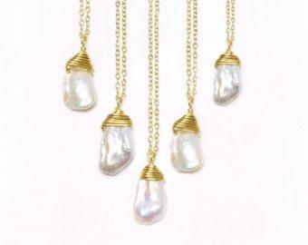 Brautjungfer Halskette Sets vielen Dank für von GlassPalaceArts