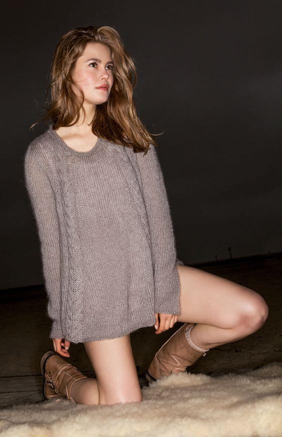 Lana Grossa PULLI Lace Seta/Silkhair - FILATI Handstrick No. 61 - Modell 17 | FILATI.cc WebShop