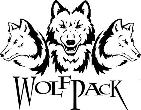 Wolf pack logo design - photo#13