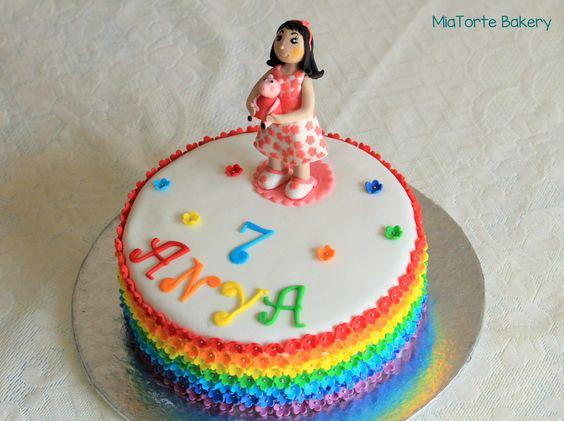 Pretty & Colorful #customizedbirthdaycake #MiaTorteBakery #Hyderabad