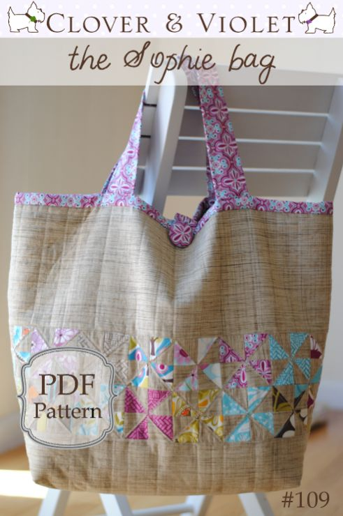 """The Sophie"" Beach Bag Sewing Pattern"