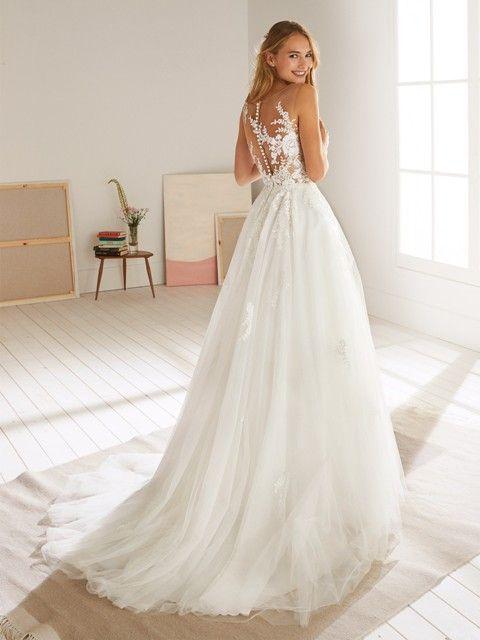 Gefunden Bei Happy Brautmoden Brautkleid Hochzeitskleid White One Tiefer Rucken Ruckenausschnitt Spitze Elegant Romant Brautmode Braut Kleider Hochzeit