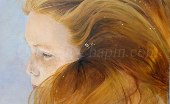"3- New #Underwater #Portrait #Painting, ""Ethereal Moment"" by Deborah Chapin, http://gallery.deborahchapin.com/portfolio/contemporary-realistic-art-water-portraits-ethereal/  #contemporaryart"