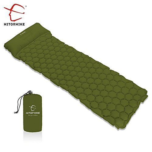HITORHIKE Backpack Sleeping Pad Lightweight Camping Sleeping Bag Pad Ultralight /& Compact /& Inflatable Air Mattress Pad-Insulated Air Mat for Camp,Backpacking,Hiking,Scouts,Travel