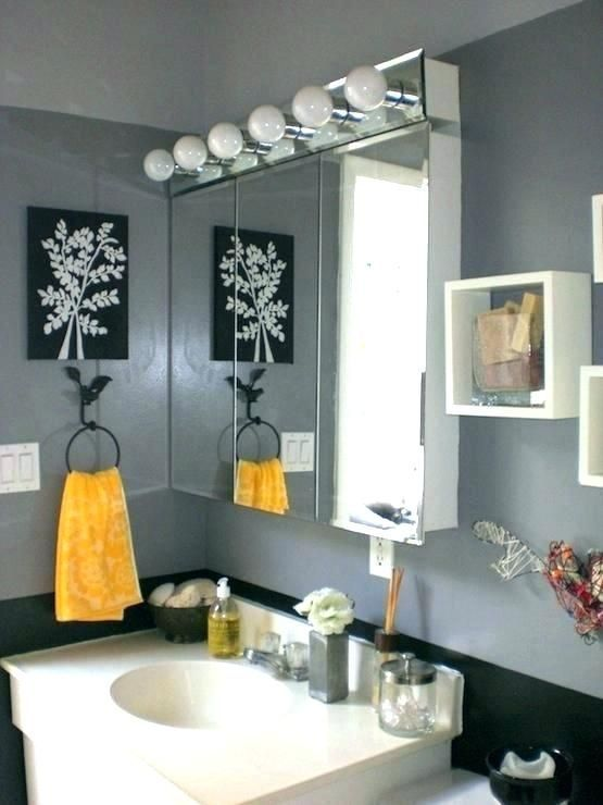 Gray And Yellow Bathroom Accessories Please Follow Me For More Inspiration Gray Yellow Bath Gray Bathroom Decor Yellow Bathroom Decor Yellow Grey Bathroom