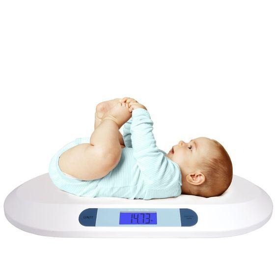 Smart Weigh Digitale Babywaage mit großem hintergrundbeleuchteten LCD-Display, 3 Wägemodi und Tara-Funktion, 20 kg