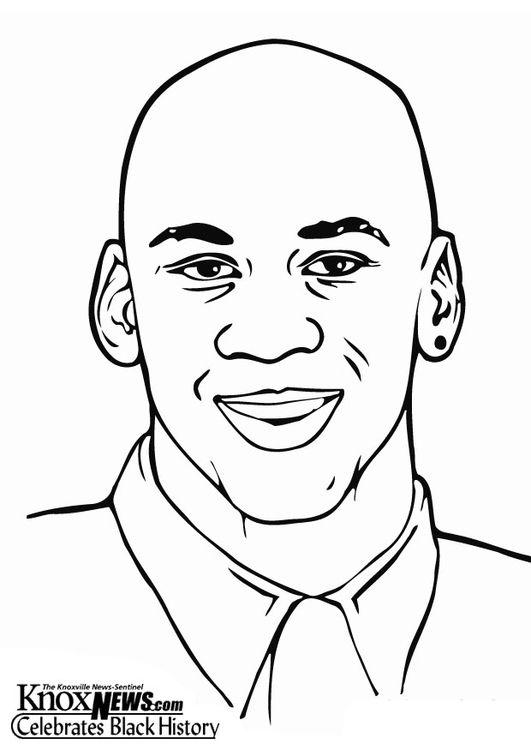 Pagina Para Colorir Michael Jordan Black History Month Black