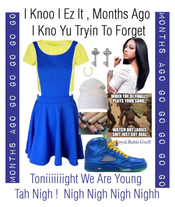 """""""We Are Young (Remix )"""" by loyalnene ❤ liked on Polyvore featuring SO, Ileana Makri, yellow, Blue, remix and mixedd"""