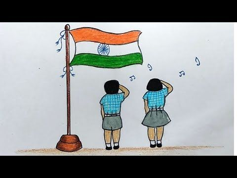 Pin By Paramjitmishal On Drawing For Kids In 2020 Flag Drawing Drawing For Kids House Drawing For Kids