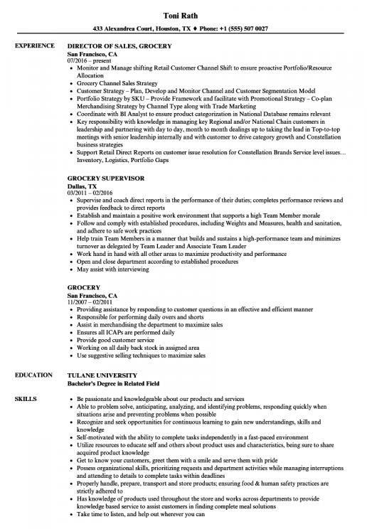 Sample Resume For Grocery Store Stock Person Resume Is A