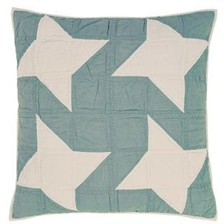 Summerhill Quilted Euro Sham 26x26 - This quilted euro sham measures 26x26