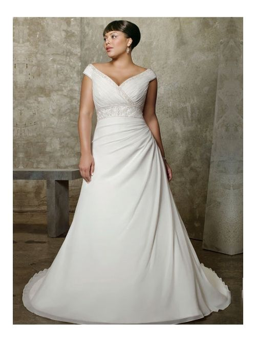 Wedding dress styles for large bust