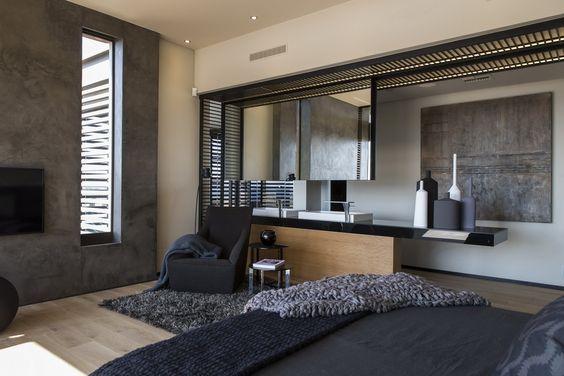 House Boz | Nico van der Meulen Architects | Archinect     /     Idea baño enel dormitorio!!!!!