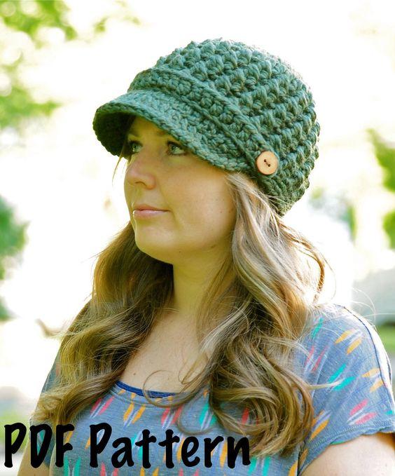 Crochet Pattern Womens Cross Stitch Hat Pattern 002 Childrens