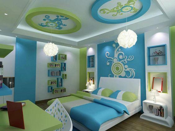 modern gypsum false ceiling designs ideas for lovely bedroom ...