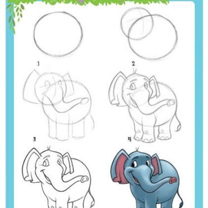 Apprendre à dessiner un éléphant 4411