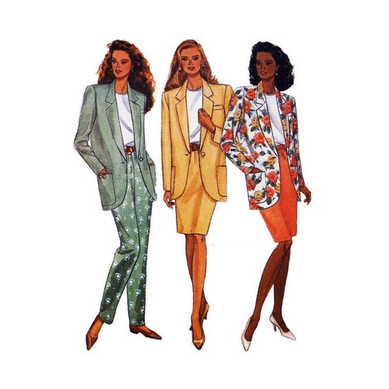 1990's Butterick 6593 Woman's Jacket Skirt by patternmemories