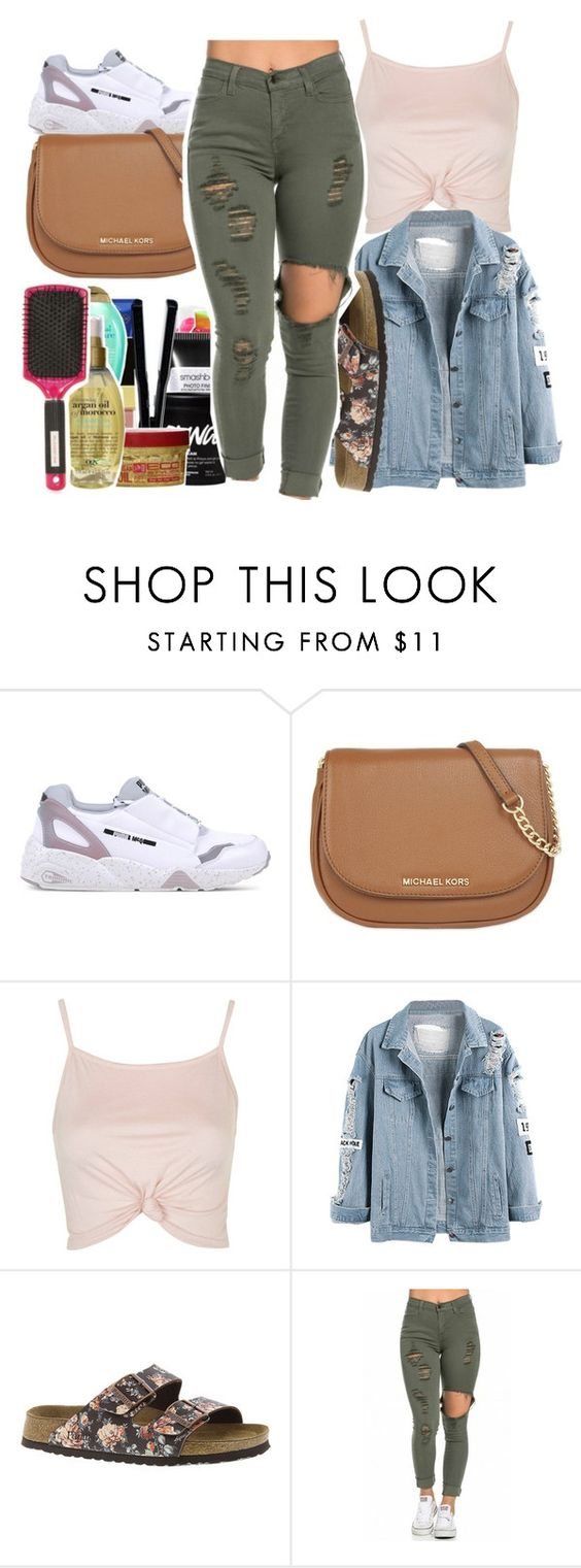 """""""Topanga"""" by denise-loveable-bray ❤ liked on Polyvore featuring Puma, MICHAEL Michael Kors, Topshop and Birkenstock"""
