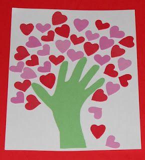 Valentine hand-print
