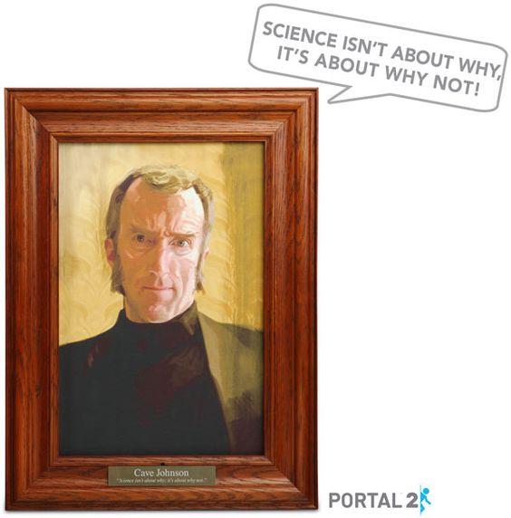 ThinkGeek :: Portal 2 Cave Johnson Talking Portrait
