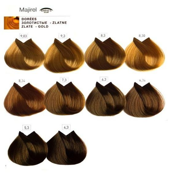 Majirel L Oreal Professionnel6 Dorati Hair Color Charts