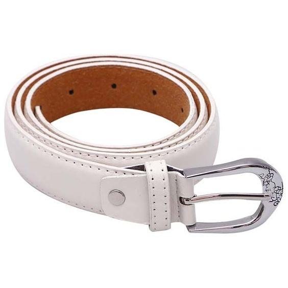 Stylehoops White Sleek Look Belt #belts #whitebelt #ladiesbelt