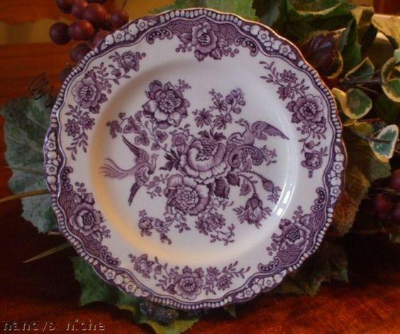 lavender purple toile transferware - photo #20