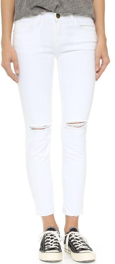White jeans for under $35. Articles of Society Soho Knee Slit ...