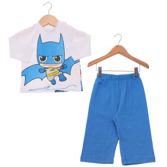 Conjunto Infantil  de Calça e Blusa de Manga Longa Batman Baby #Batman #BatmanBaby #LojaDCComics #bandUP