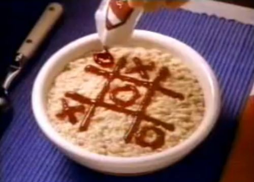 Made us all want to play tic tac toe with our cereal