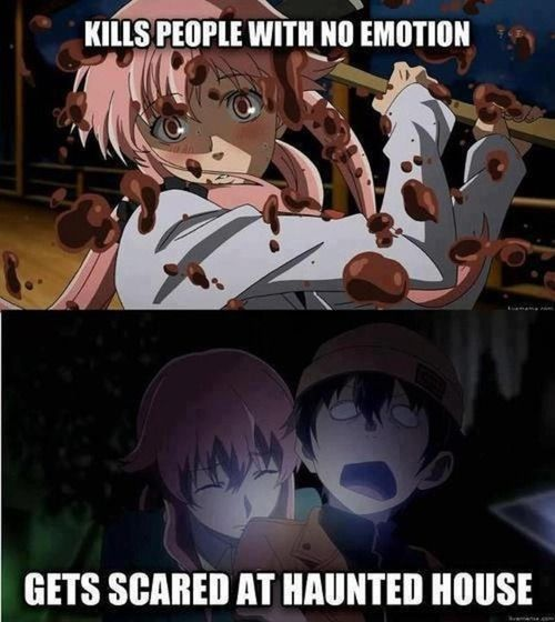 """Pretty sure whoever made this needs to look up symptoms for """"Bipolar disorder."""" - Future Diary."""
