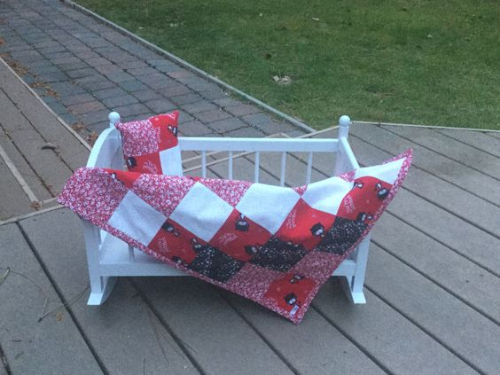 Doll Blanket and Pillow Set--You're Perfect by blanketsbyjuliep on Etsy