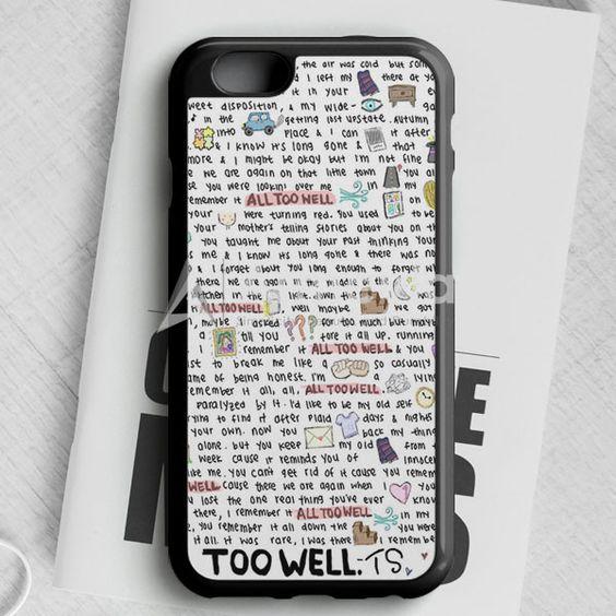 All Too Well Lyric iPhone 6/6S Case | armeyla.com