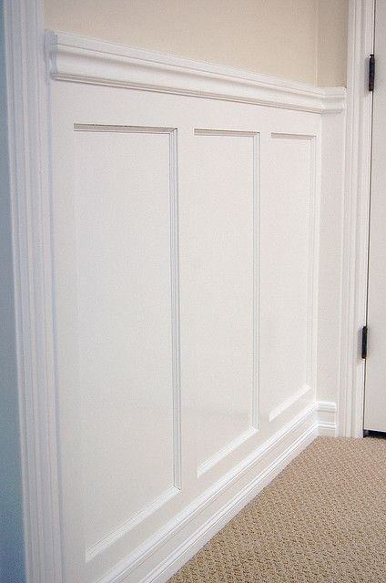 Recessed Panel Wainscoting with Chair Rail: