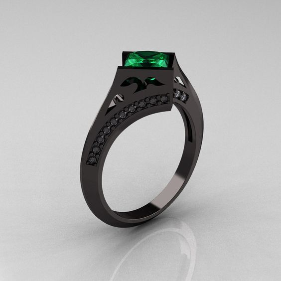 14K Black (!!) Gold ring